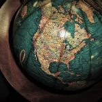 An antique looking globe